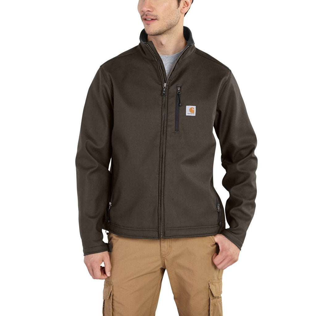 Carhartt Men's Dark Coffee Quick Duck Pineville Jacket