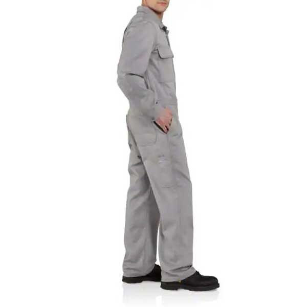 Carhartt Men's Grey Flame-Resistant Traditional Twill Coverall