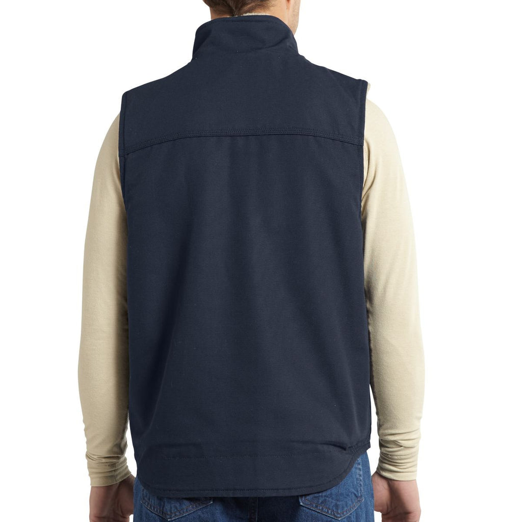 Carhartt Men's Dark Navy Flame-Resistant Mock Neck Vest
