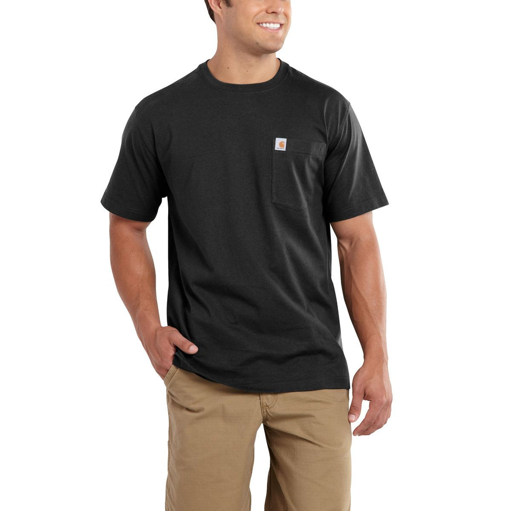Carhartt Men's Black Maddock Pocket Short Sleeve T-Shirt