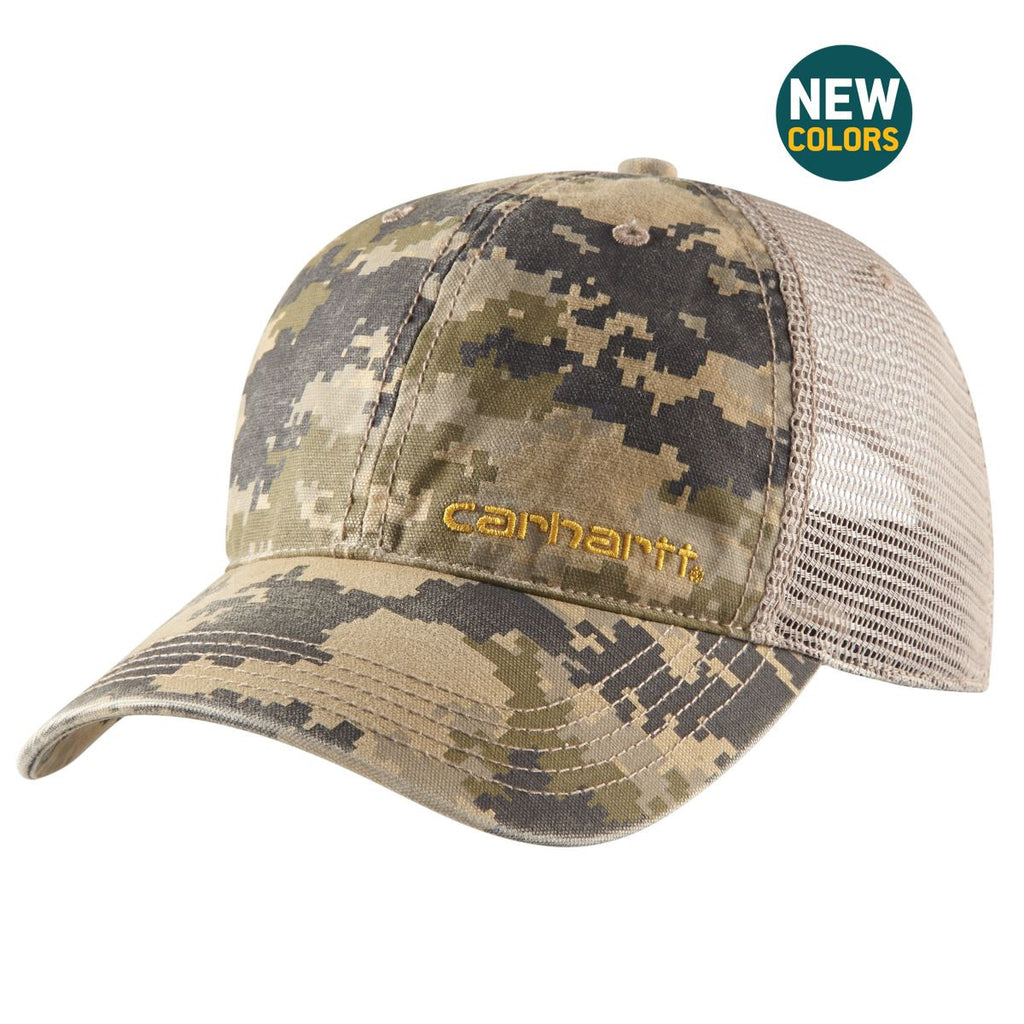 dd483384b13 Carhartt Men s Dark Khaki Digi Camo Brandt Cap. ADD YOUR LOGO