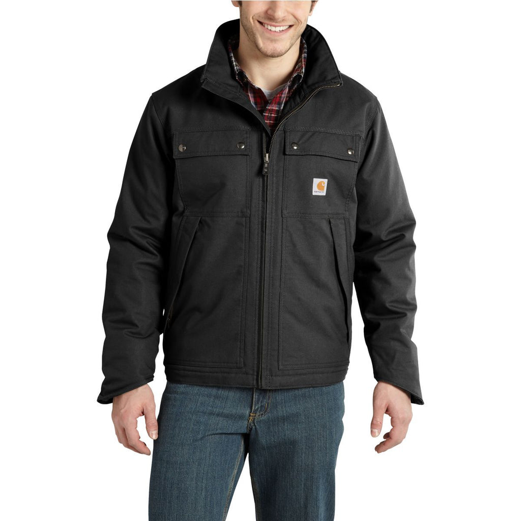 Carhartt Men's Black Quick Duck Jefferson Traditional Jacket