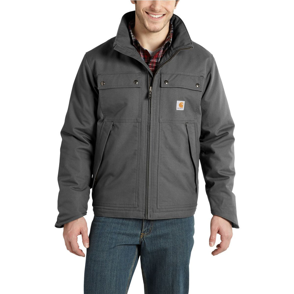 Carhartt Men's Charcoal Quick Duck Jefferson Traditional Jacket