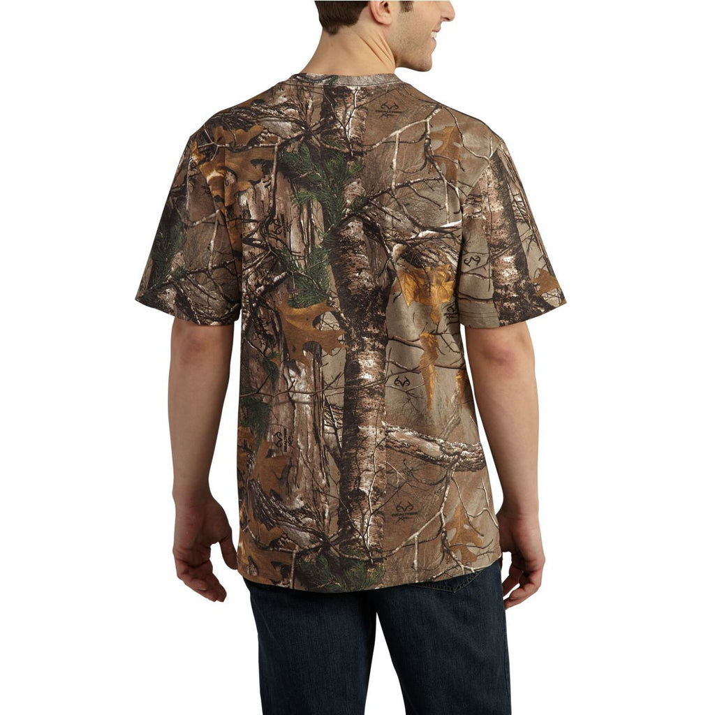 Carhartt Men's Realtree Xtra Workwear Graphic Signature Camo Short Sleeve T-Shirt