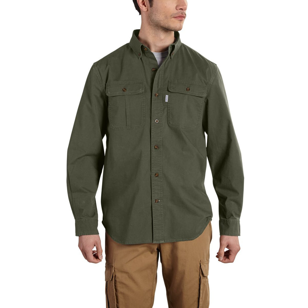 Carhartt Men's Moss Foreman Solid Long Sleeve Work Shirt