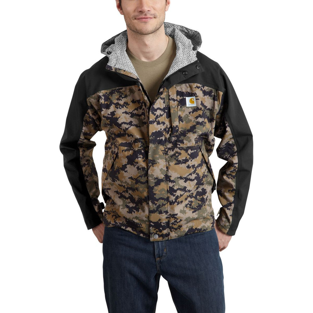 Carhartt Men's Black/Dark Khaki Digi Camo Shoreline Vapor Jacket