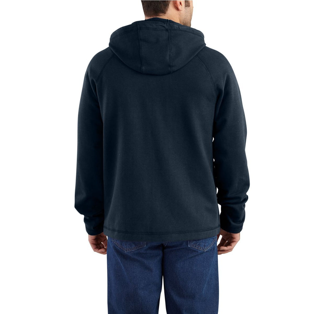 Carhartt Men's Dark Navy Flame-Resistant Force Rugged Flex Hooded Fleece