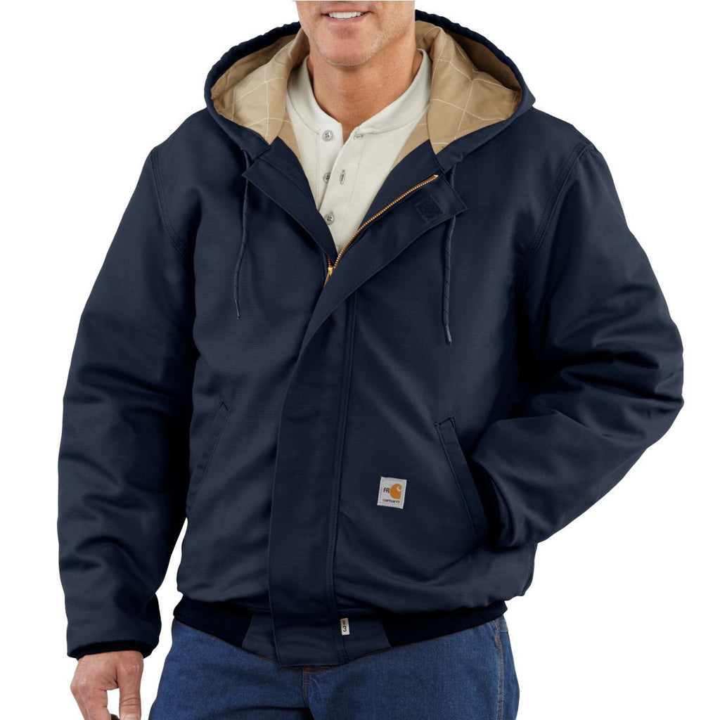 Carhartt Men's Dark Navy Flame-Resistant Canvas Active Jacket