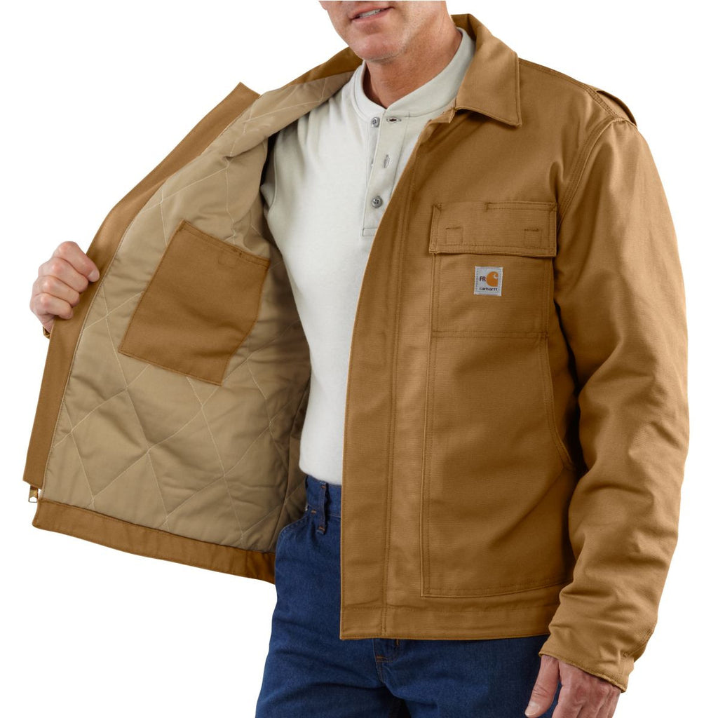 Carhartt Men's Carhartt Brown Flame-Resistant Lanyard Access Jacket