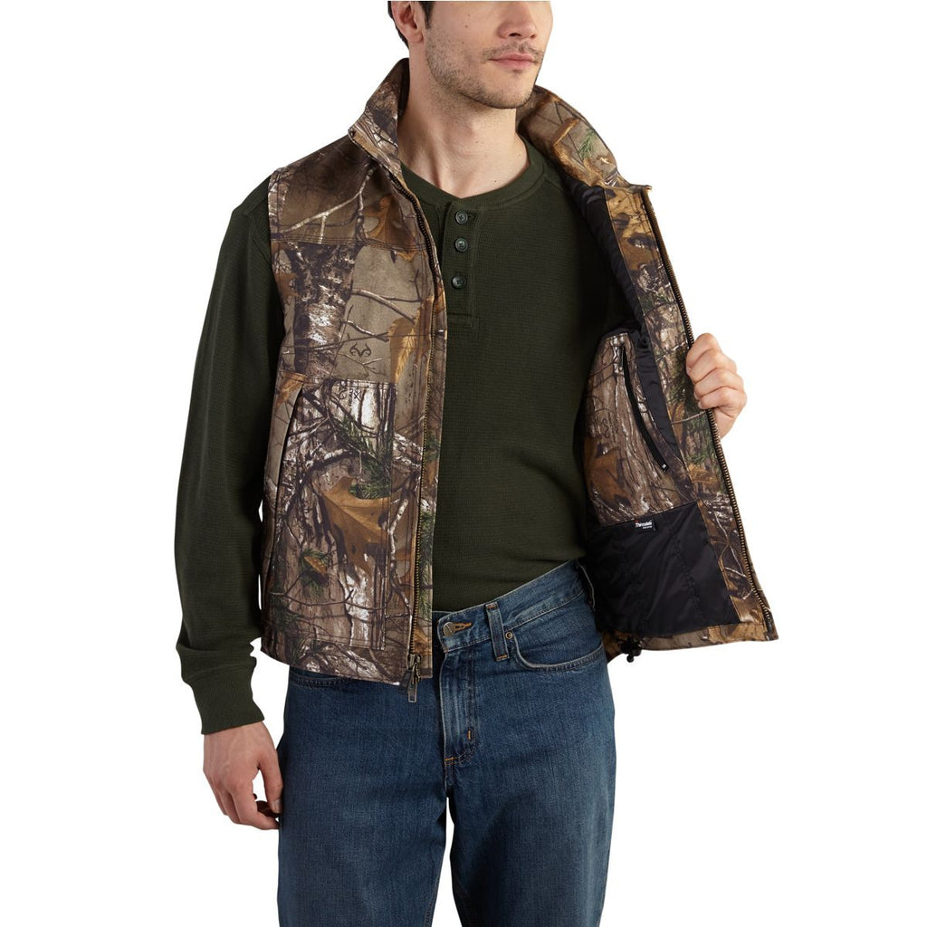 Carhartt Men's Realtree Xtra Quick Duck Camo Vest