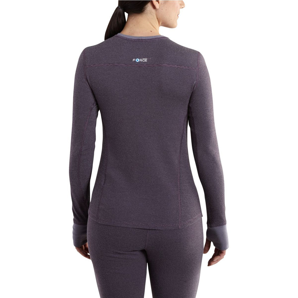 Carhartt Women's Plum Base Force Cold Weather Crewneck Top