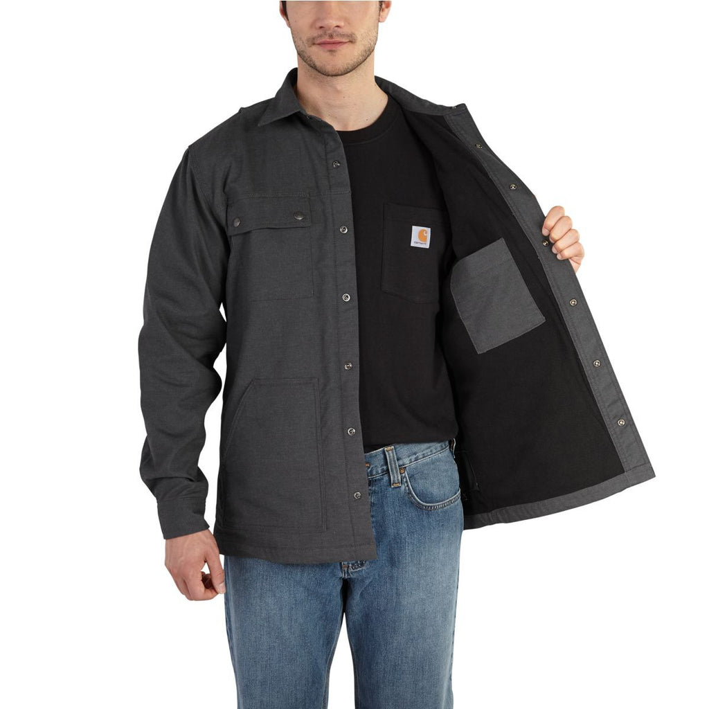 Carhartt Men's Shadow Full Swing Quick Duck Overland Shirt Jacket