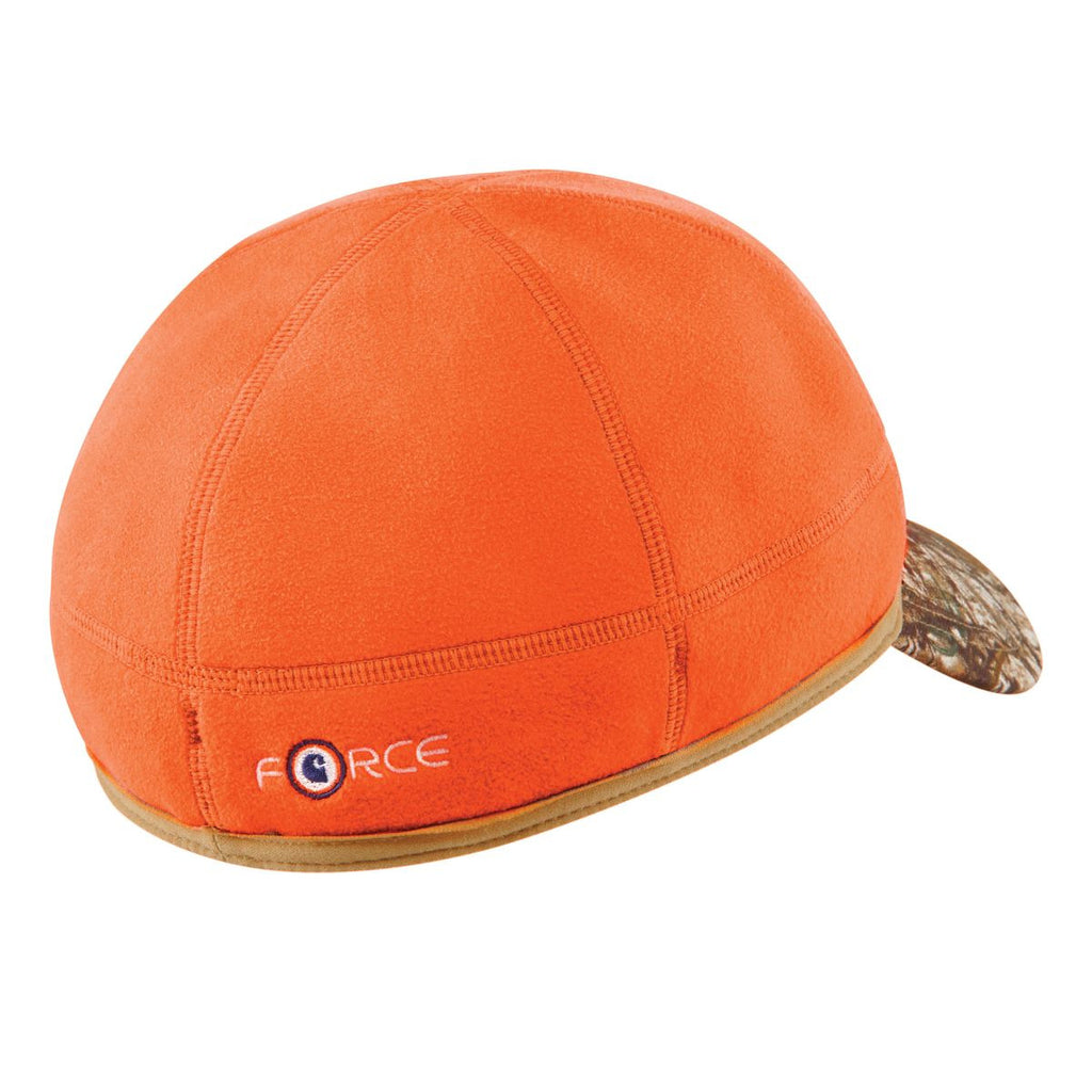 Carhartt Men's Brite Orange Force Griggs Fleece Visor Cap