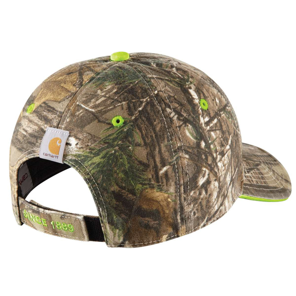 Carhartt Men's Realtree/Brite Orange Midland Cap