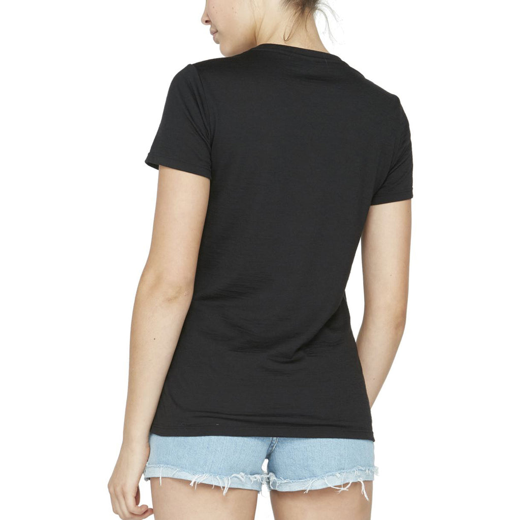 Icebreaker Women's Black Tech Lite Short Sleeve Crew