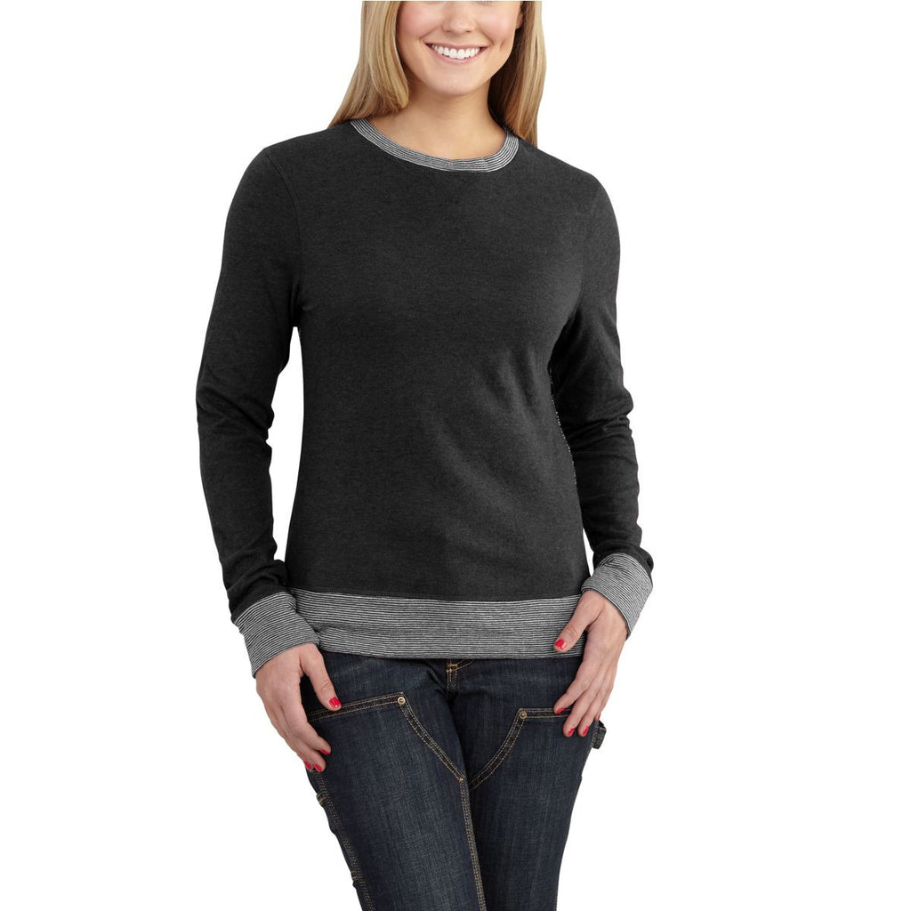 Carhartt Women's Black Heather Pondera Crewneck Shirt