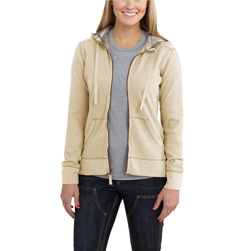 Carhartt Women's Warm Oatmeal Heather Meadow Zip Front Hoodie