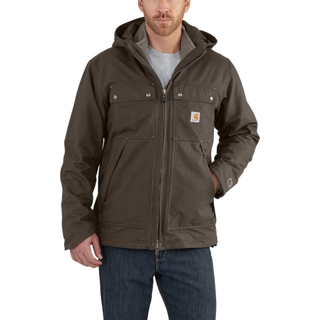 Carhartt Men's Dark Coffee Quick Duck 3 in 1 Rockwall Jacket