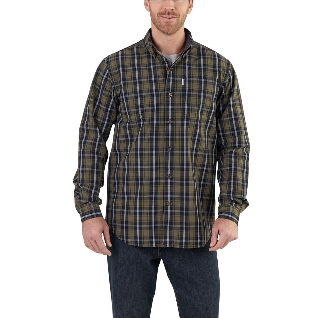 Carhartt Men's Army Green Bellevue Long Sleeve Shirt