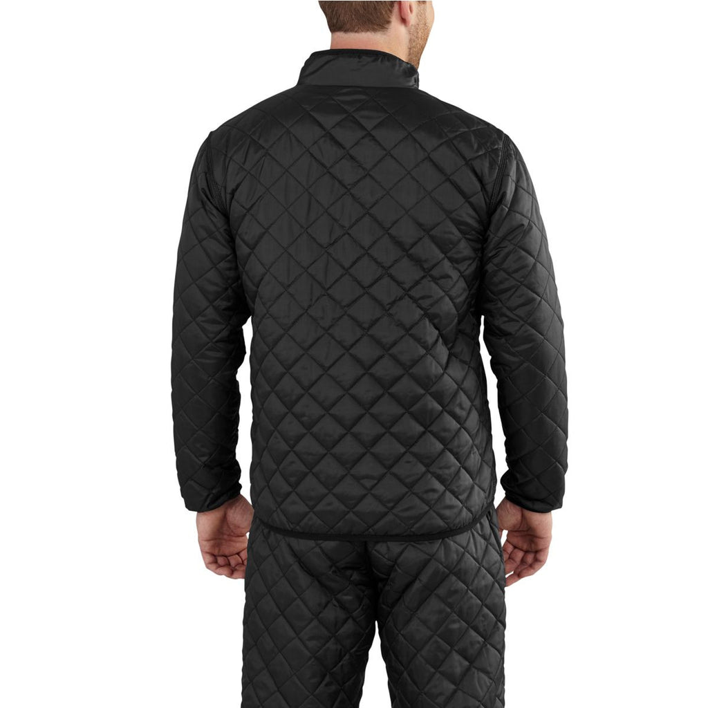 Carhartt Men's Black Yukon Quilted Base Layer Top