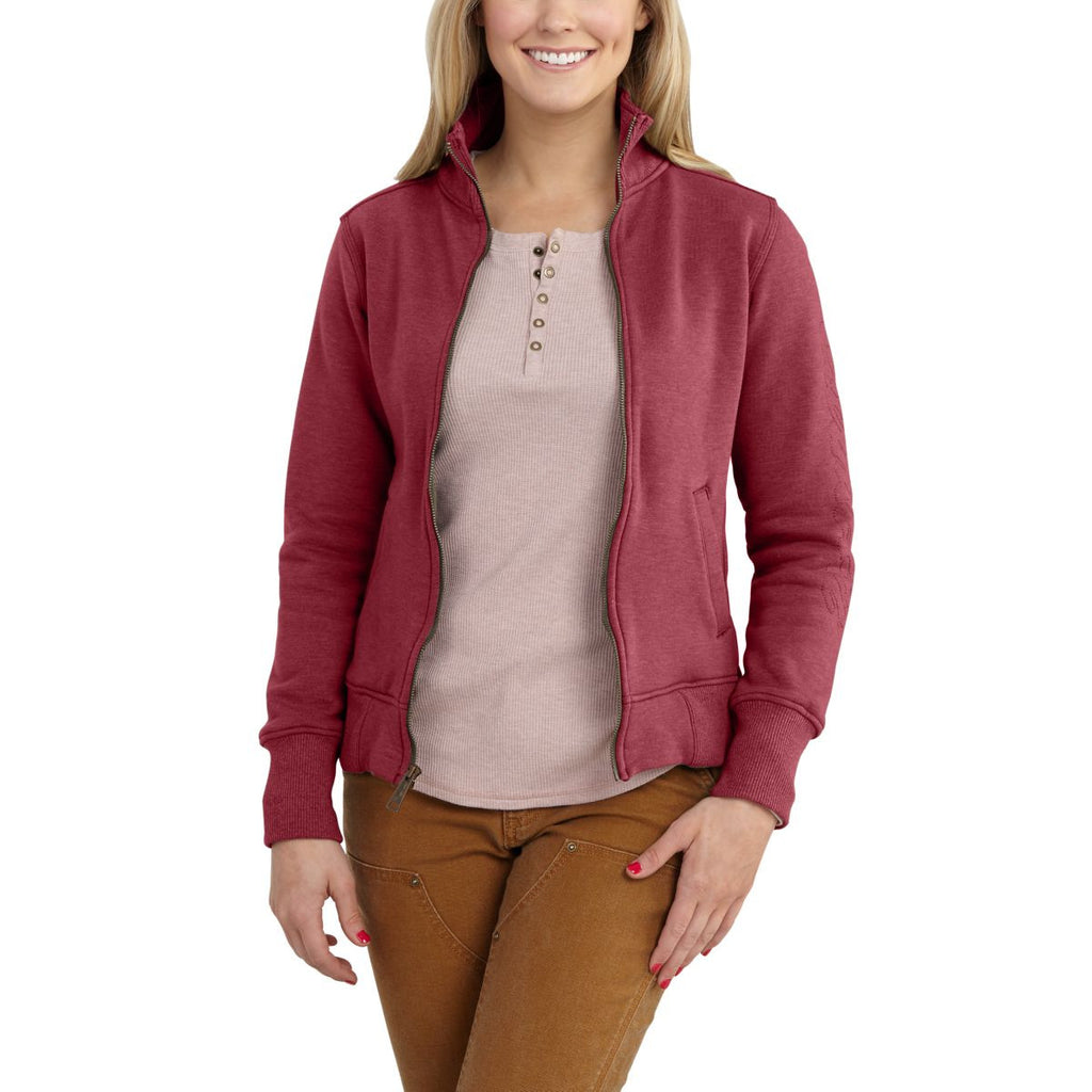 Carhartt Women's Raspberry Heather Dunlow Sweatshirt