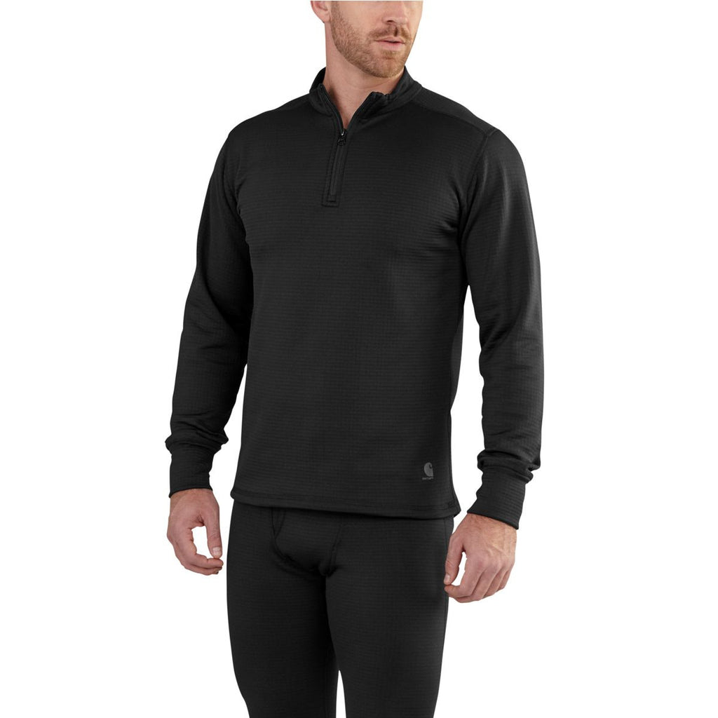 Carhartt Men's Black Base Force Extremes Super Cold Whether Quarter Zip