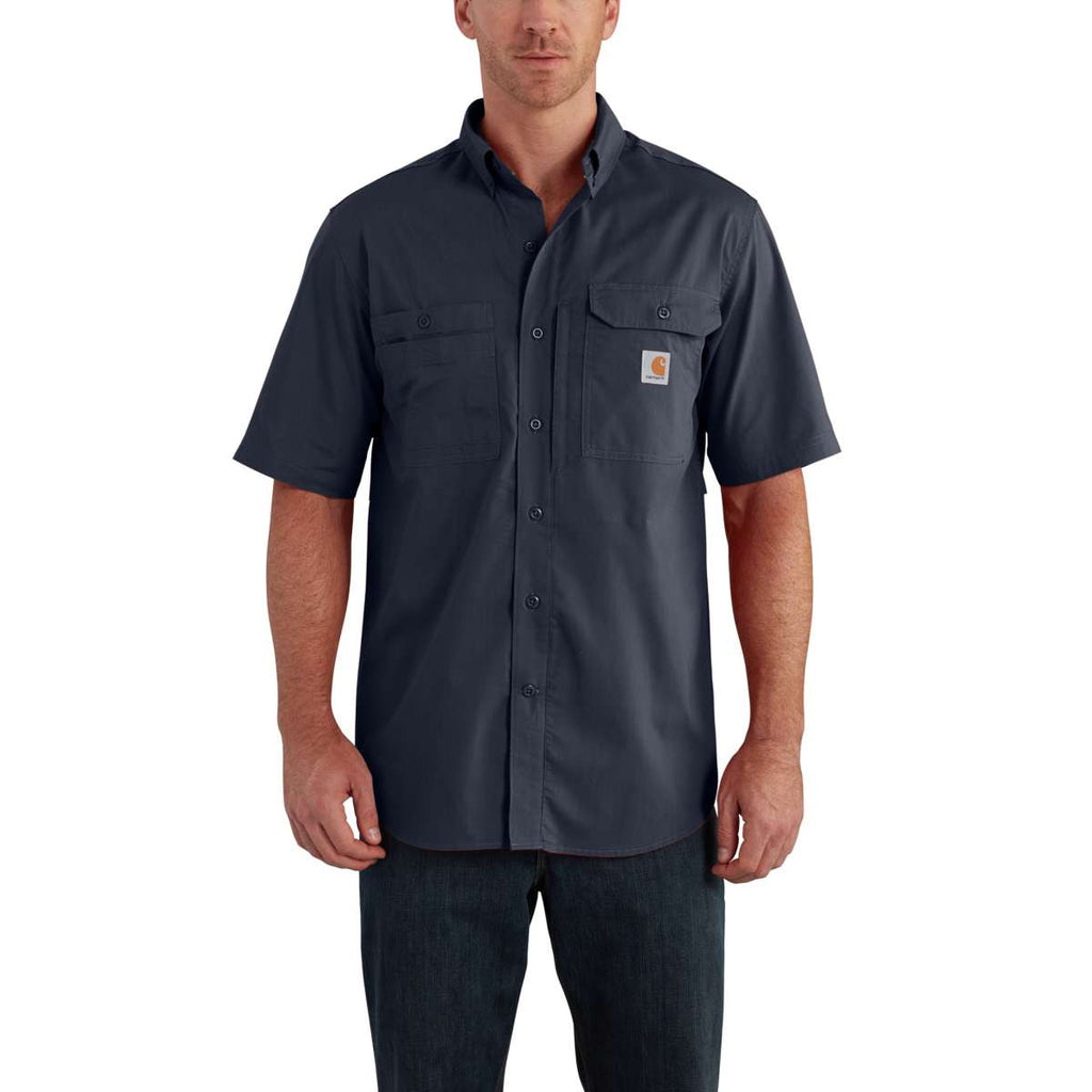 Carhartt Men's Navy Force Ridgefield Solid SS Shirt