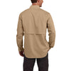 Carhartt Men's Dark Khaki Force Ridgefield Solid LS Shirt