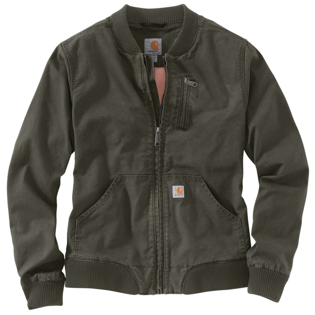 e019d744f Carhartt Women's Olive Crawford Bomber Jacket