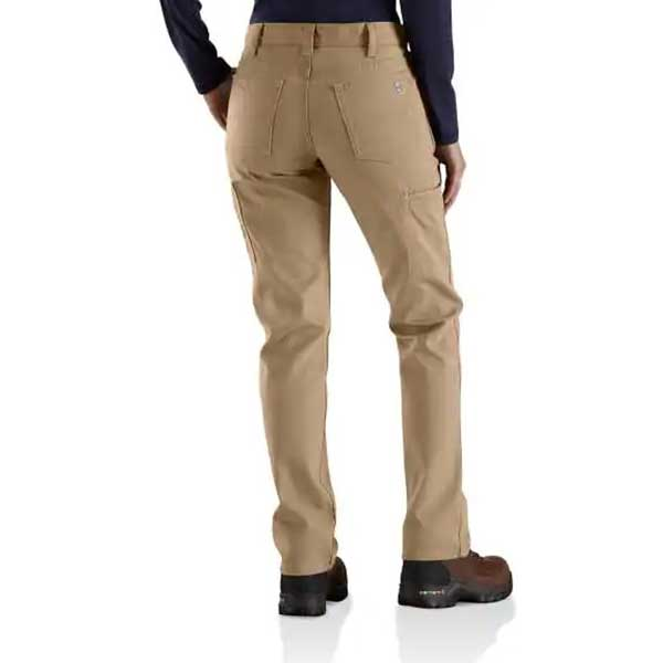 Carhartt Women's Golden Khaki Flame-Resistant Rugged Flex Canvas Pant