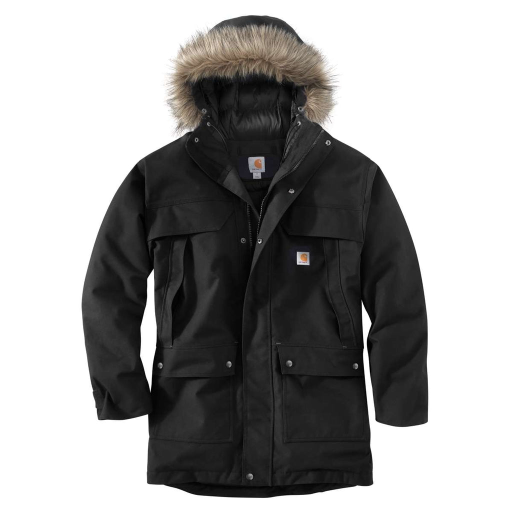 carhartt men 39 s black quick duck sawtooth parka. Black Bedroom Furniture Sets. Home Design Ideas