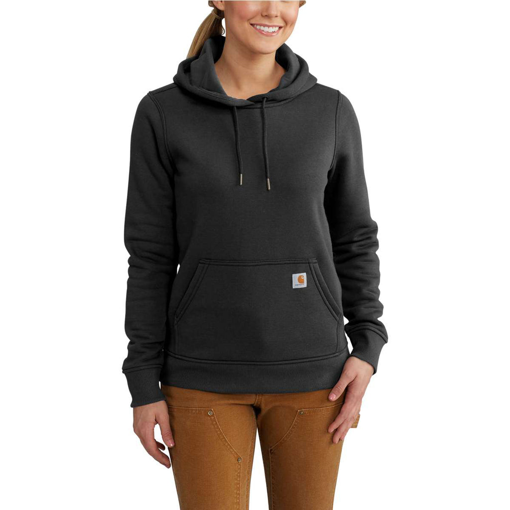 carhartt women 39 s black clarksburg pullover sweatshirt. Black Bedroom Furniture Sets. Home Design Ideas