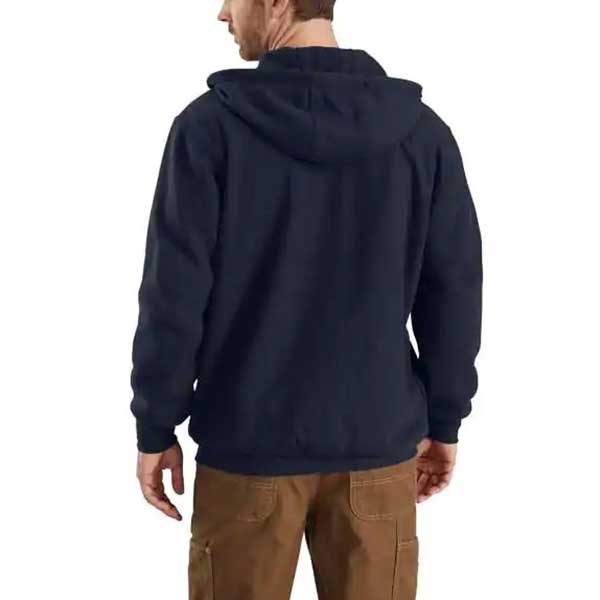 Carhartt Men's Dark Navy Flame-Resistant Heavyweight Hooded Zip Front Sweatshirt