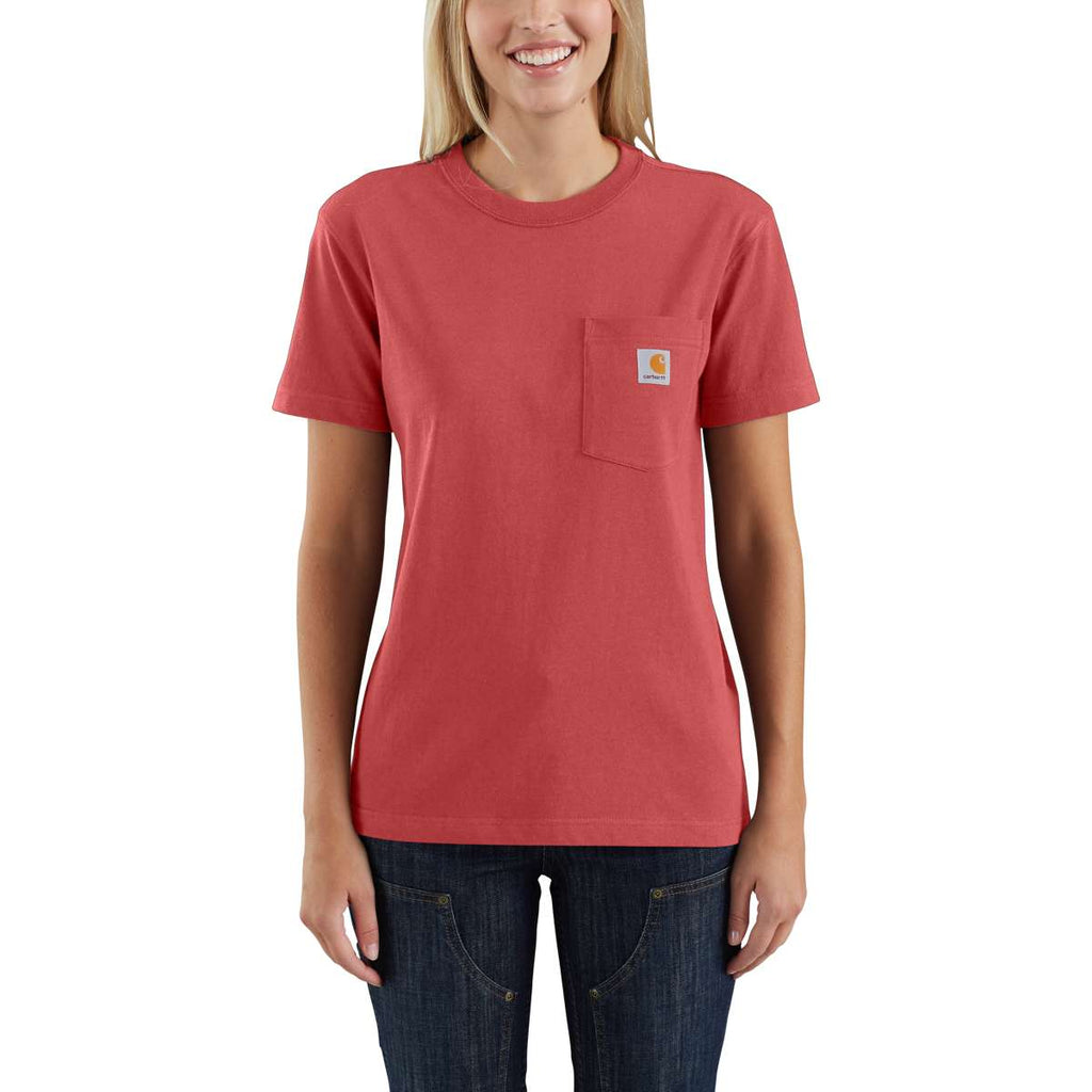 Carhartt Women's Cranberry WK87 Workwear Pocket Short Sleeve T-Shirt