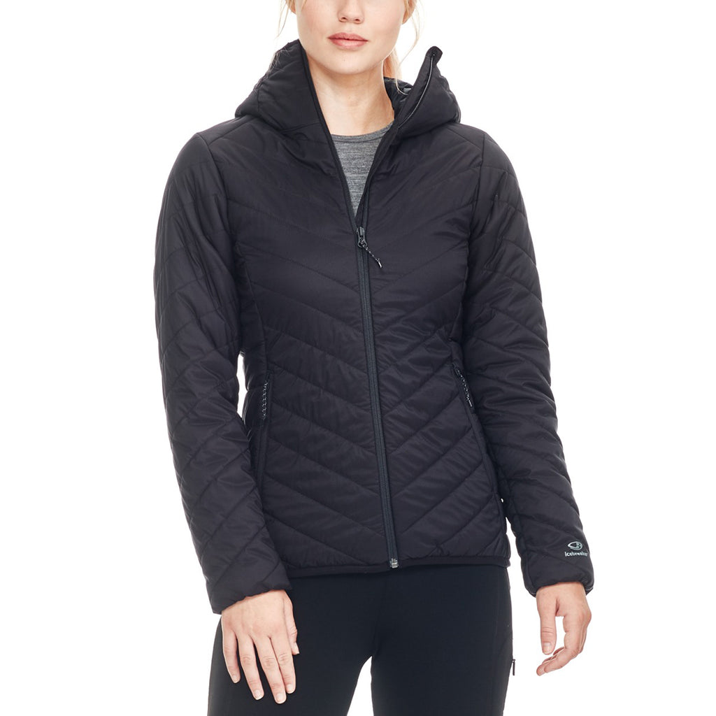 Icebreaker Women's Black Hyperia Hooded Jacket