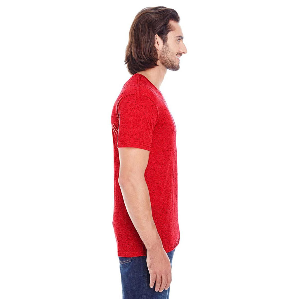 Threadfast Men's Red Fleck Triblend Short-Sleeve T-Shirt