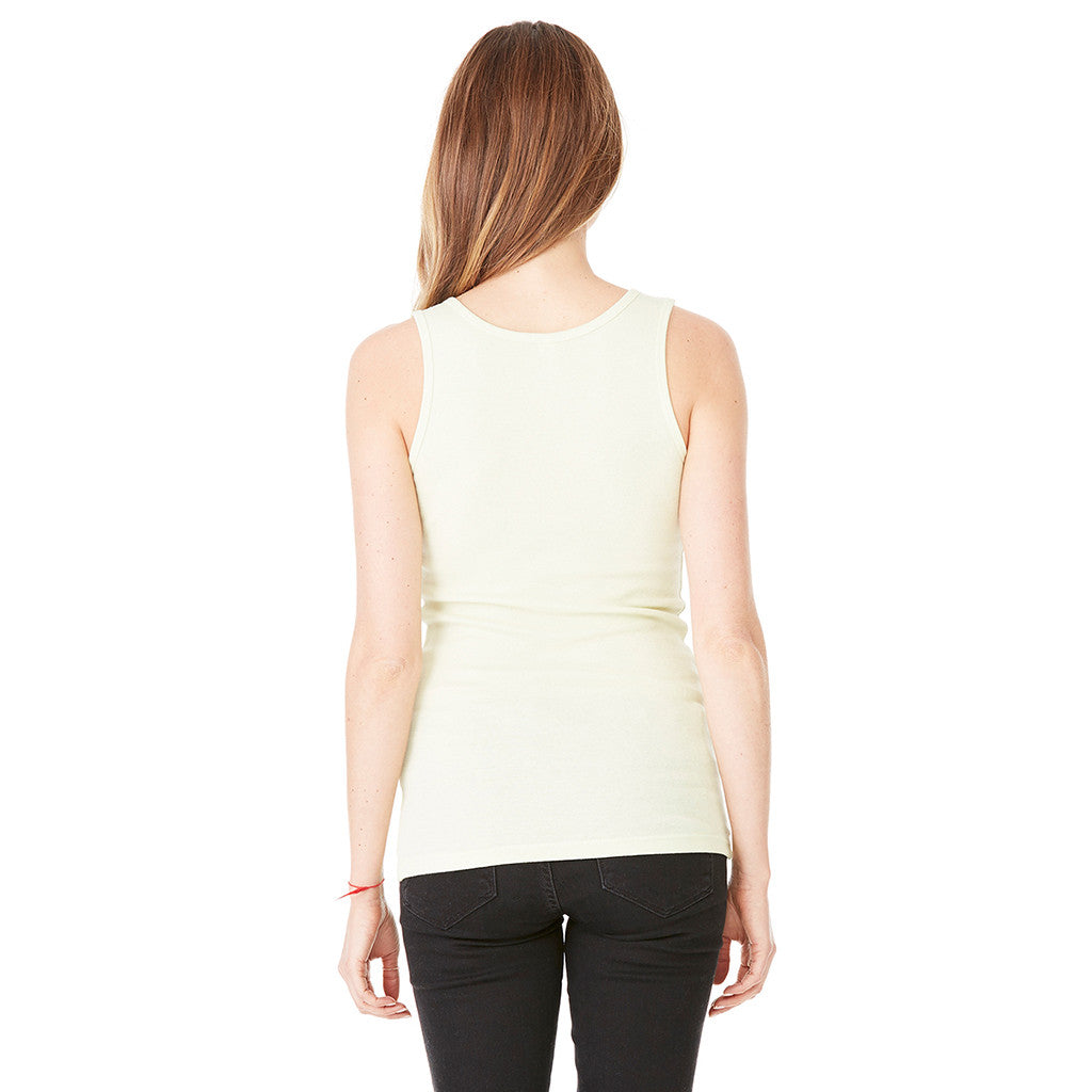 Bella + Canvas Women's Lime Wedge Stretch Rib Tank