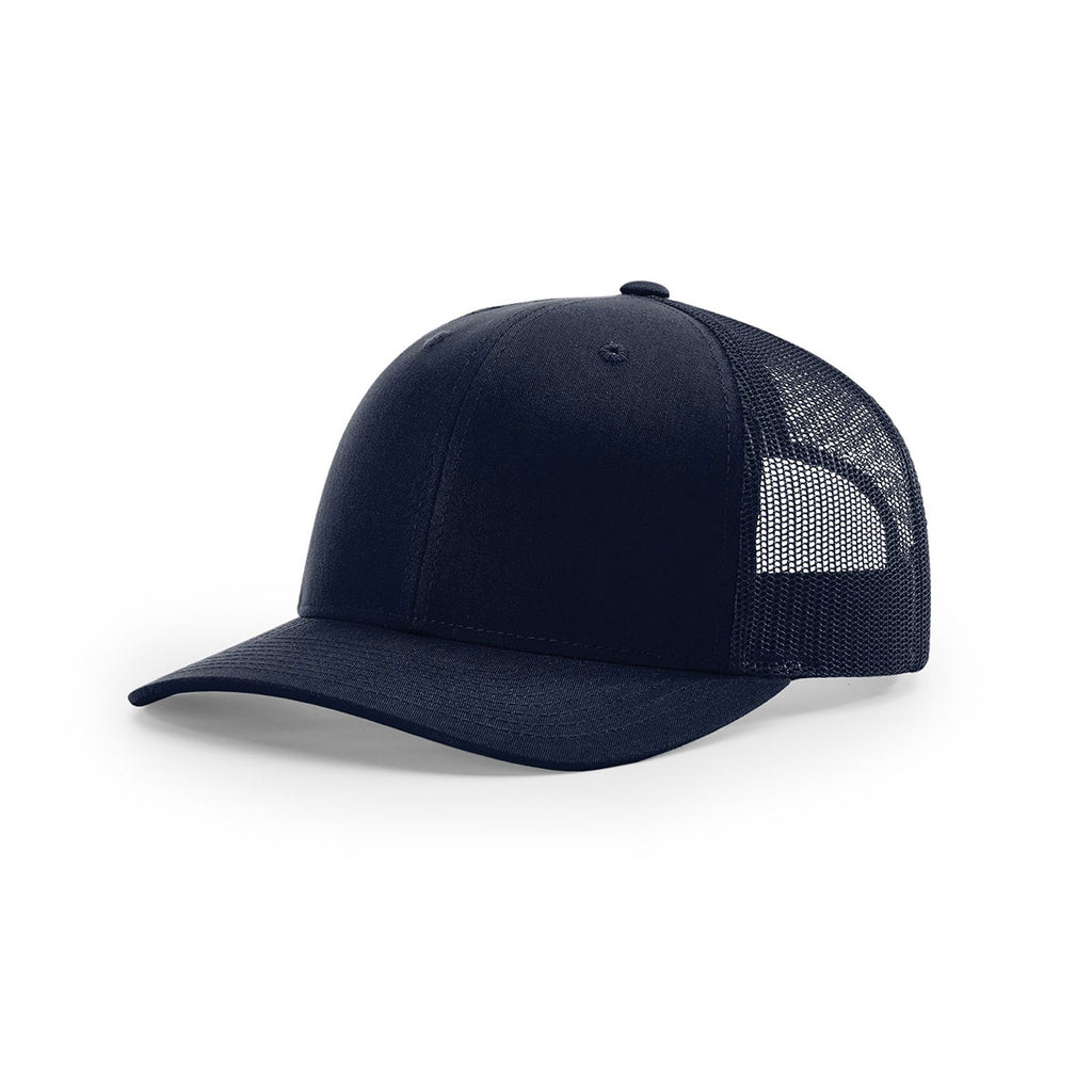 4a7024be Richardson Navy Mesh Back Solid Trucker Hat