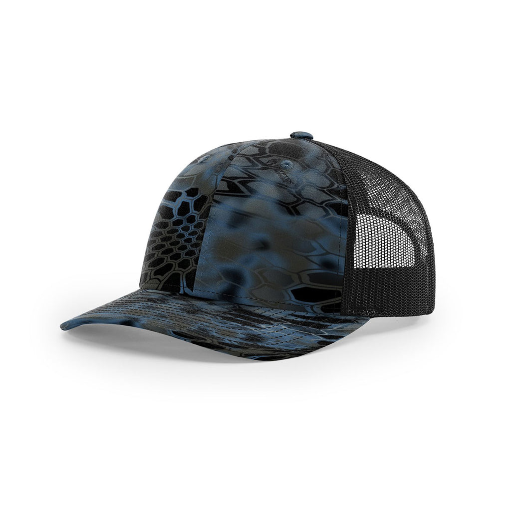 0c599f48fa1 Richardson Neptune Black Mesh Back Kryptek Camo Trucker Hat