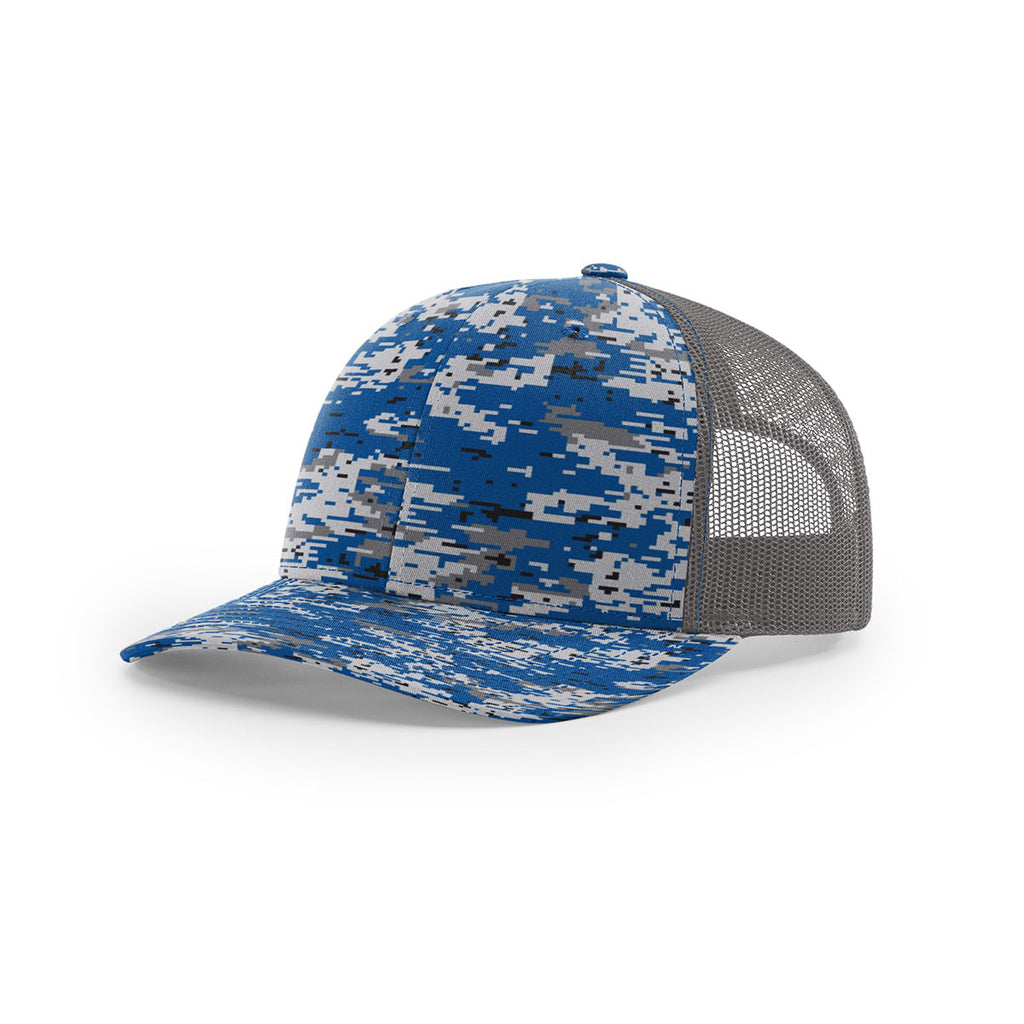 0b1ab37ef03f6 Richardson Royal Digital Camo Charcoal Mesh Back Military Camo Trucker