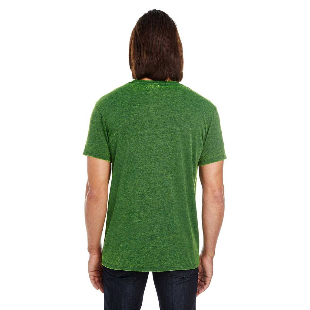 Threadfast Unisex Emerald Cross Dye Short-Sleeve T-Shirt