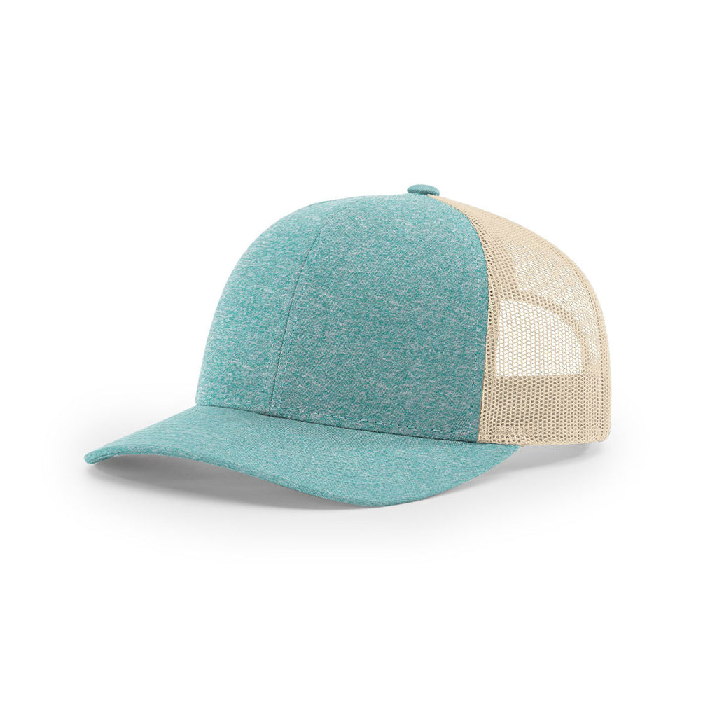Richardson Green Teal Heather Birch Mesh Back Low Pro Heather Trucker f2b6d9f39b4