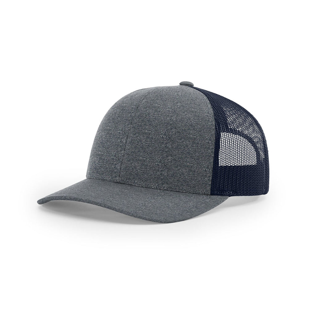 Richardson Navy Heather Navy Mesh Back Low Pro Heather Trucker ... e295fef8501