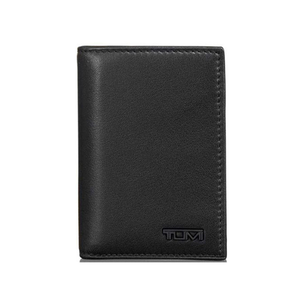 TUMI Black Delta Gusseted Card Case ID with TUMI ID Lock