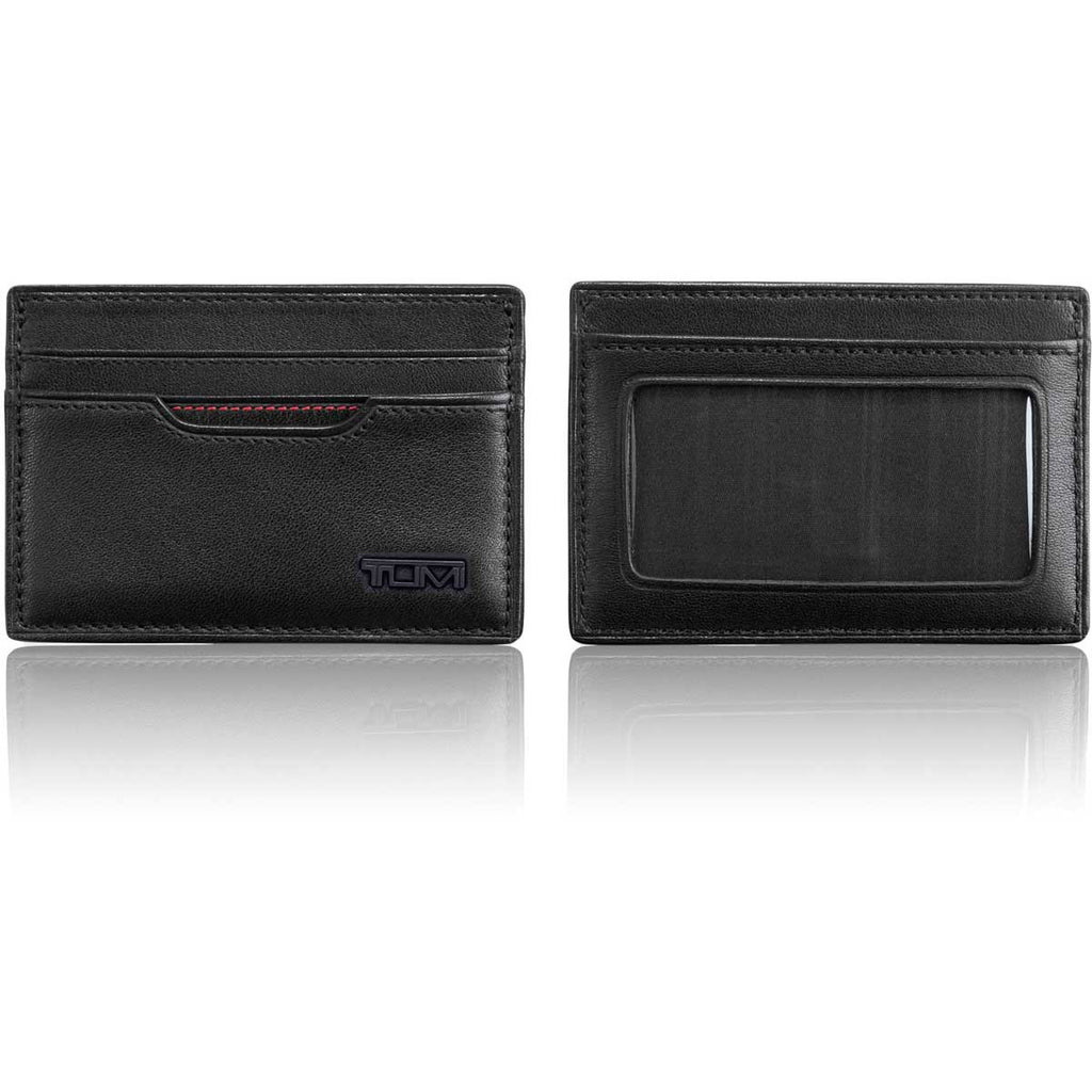 Black Delta Slim Card Case with TUMI ID Lock