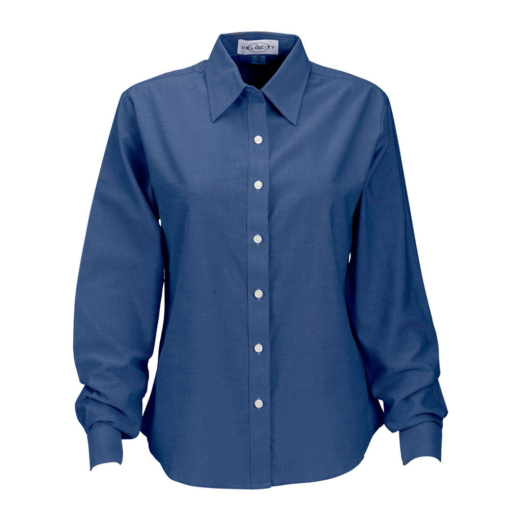 Vantage women 39 s french blue repel and release oxford shirt for French blue oxford shirt