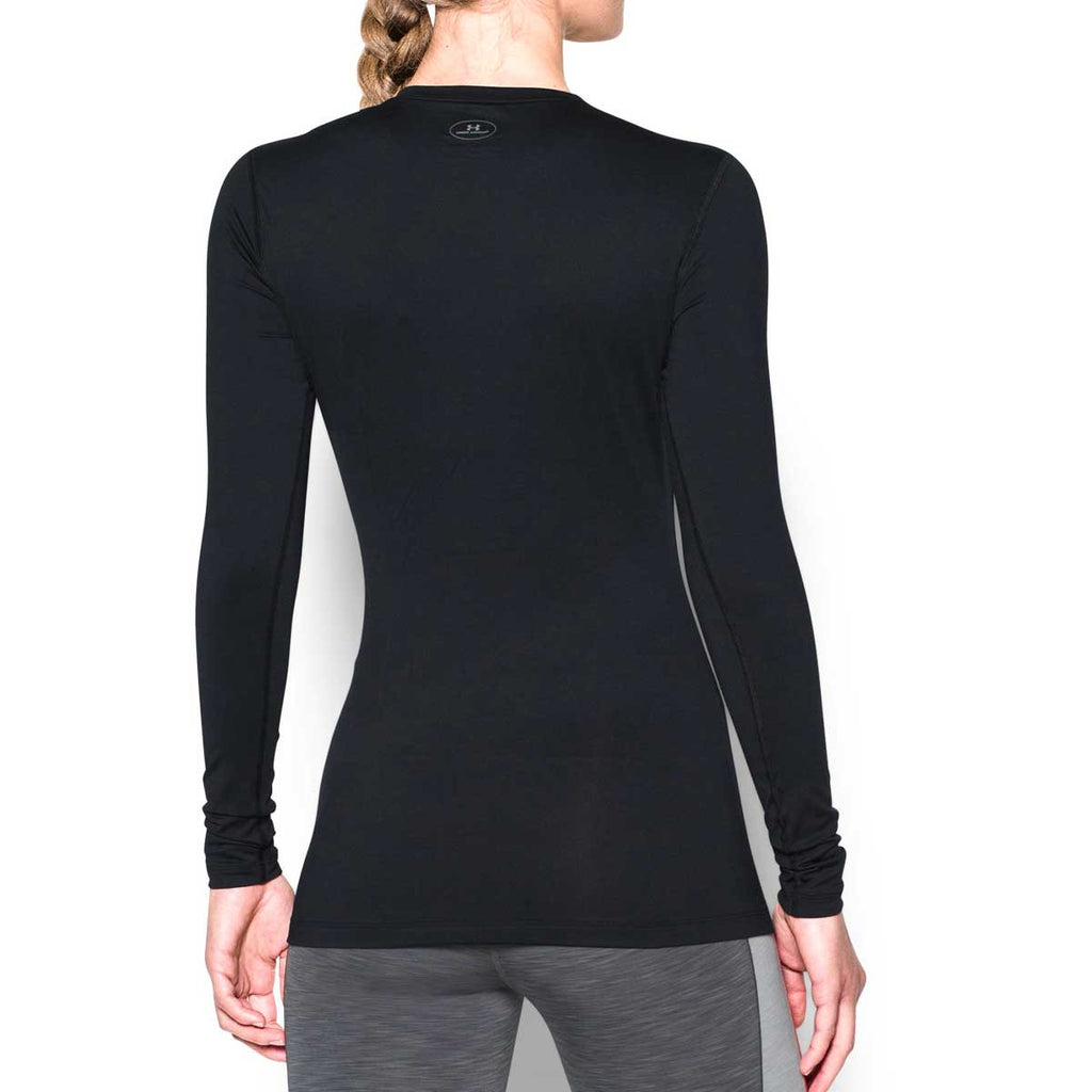 Under Armour Women's Black ColdGear Fitted Long Sleeve Crew