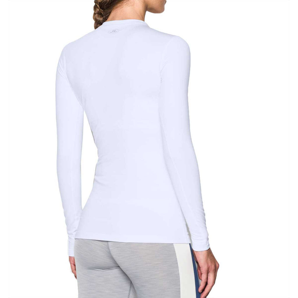 Under Armour Women's White ColdGear Fitted Long Sleeve Crew