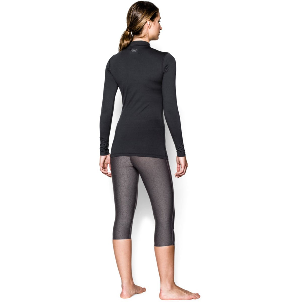 Under Armour Women's Black ColdGear Fitted L/S Mock