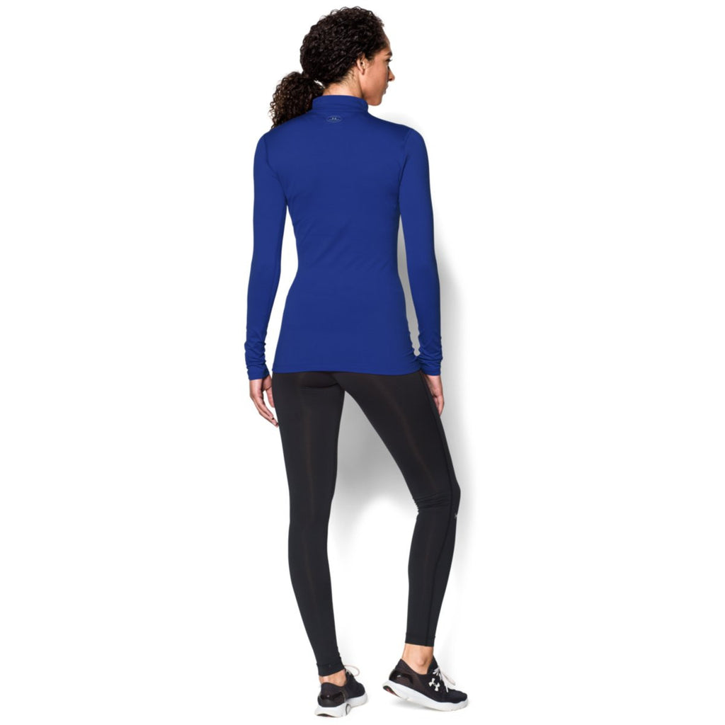 Under Armour Women's Royal ColdGear Fitted L/S Mock